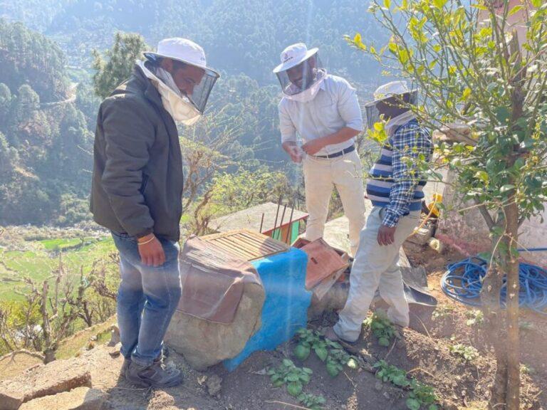 उत्तरकाशी – विशेषज्ञों की टीम द्वारा मानपुर के काश्तकारों को शहद उत्पादन की दी गयी महत्वपूर्ण जानकारी