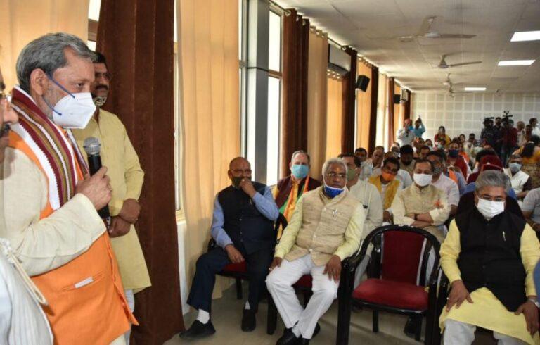 मुख्यमंत्री प्रदेश बीजेपी कार्यालय में के41वें स्थापना दिवस के अबसर पर