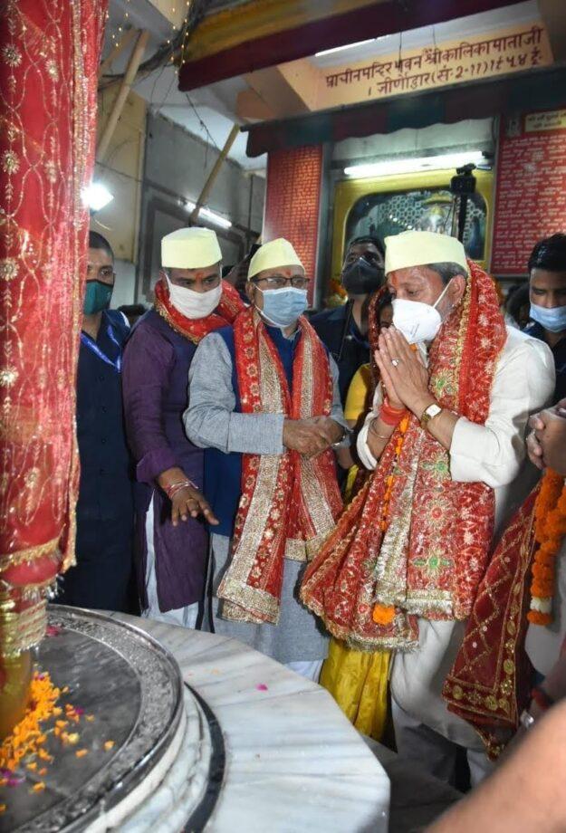 मुख्यमंत्री तीरथ सिंह रावत ने  श्री कालिका माता समिति द्वारा आयोजित ध्वाजारोहण महोत्सव में प्रतिभाग किया