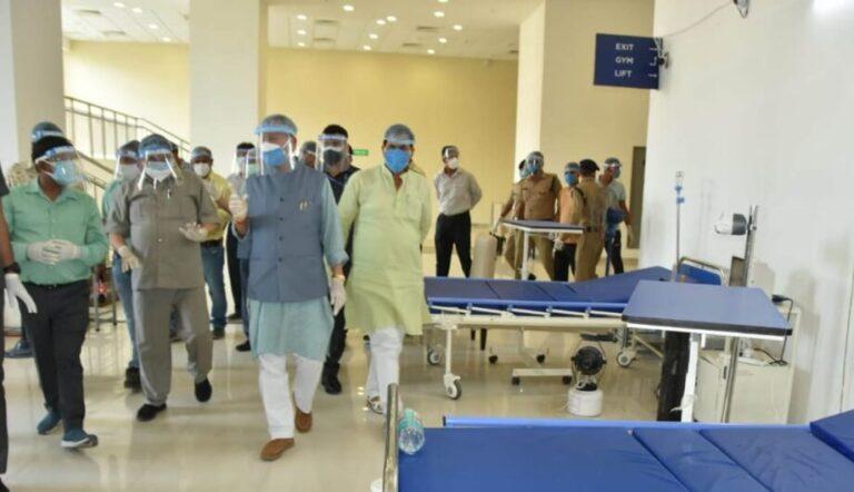 गुड न्यूज-मुख्यमंत्री तीरथ सिंह रावत ने रायपुर स्थित कोविड केयर सेंटर और ऋषिकेश आईडीपीएल में निर्माणाधीन कोविड अस्पताल का निरीक्षण किया
