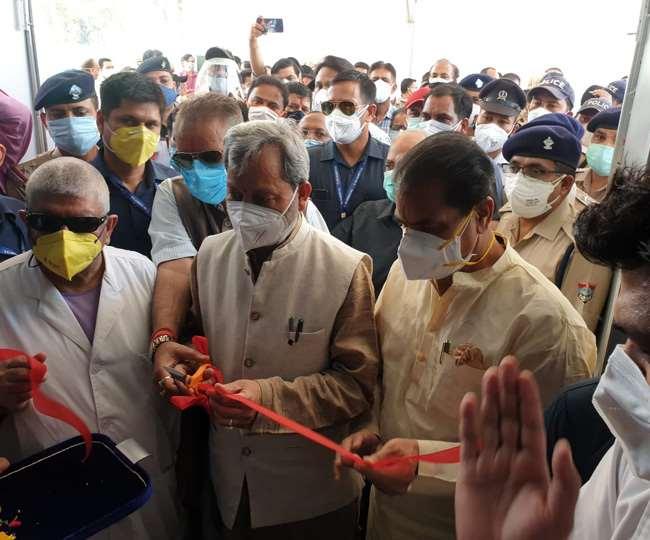 500 बेड के कोविड अस्पताल का मुख्यमंत्री ने किया लोकार्पण