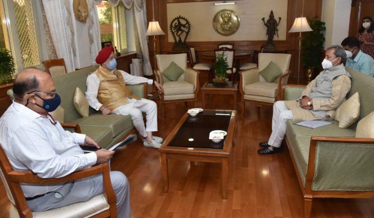 मुख्यमंत्री तीरथ सिंह रावत ने नई दिल्ली में राज्य मंत्री (स्वतंत्र प्रभार) नागरिक उड्डयन, आवास और शहरी मामले, भारत सरकार हरदीप पुरी से भेंट की