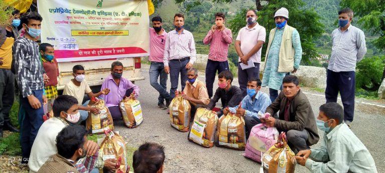 कोरोना काल में मदद के हाथः एटी इंडिया कर रहा प्रदेश के दुरस्थ क्षेत्रों में खाद्य समग्री वितरित