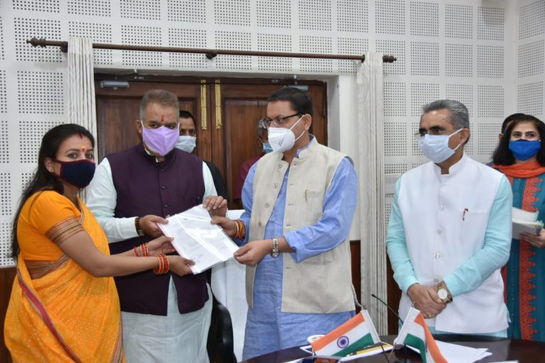 प्रधानमंत्री आवास योजना शहरी के तहत 240 लाभार्थियों को दिया गया आवास  का कब्जा  -मुख्यमंत्री पुष्कर सिंह धामी