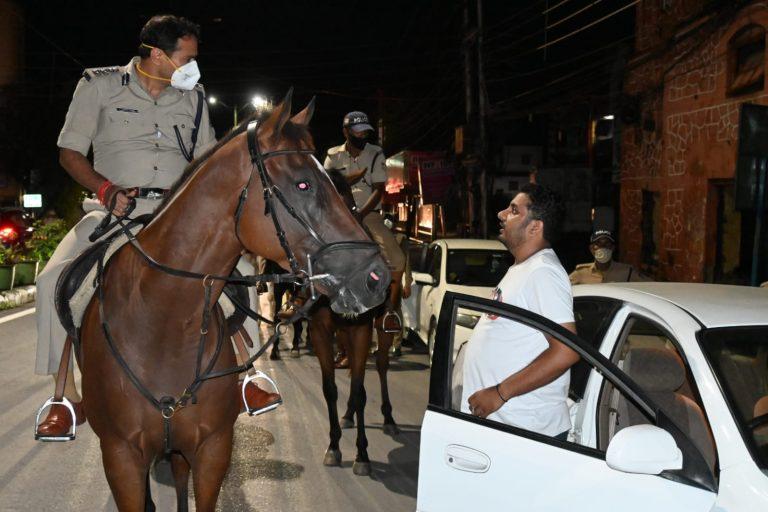 देर रात नए पुलिस कप्तान ने किया शहर का निरीक्षण